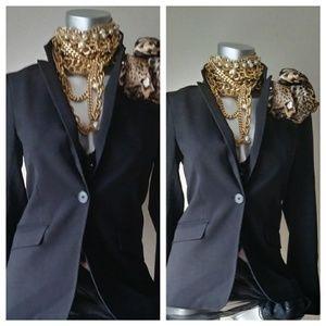 H&M Black Classic Fitted Blazer